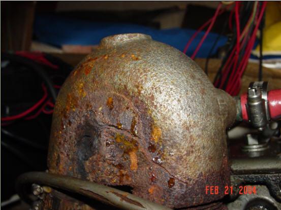 Damaged Exhaust Riser